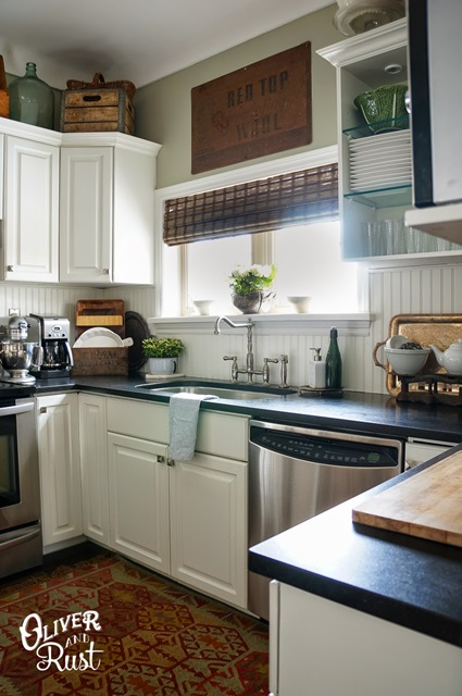 Traditional Style Kitchen with Eclectic Touches