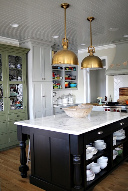 Traditional Kitchen with Painted Cabinets