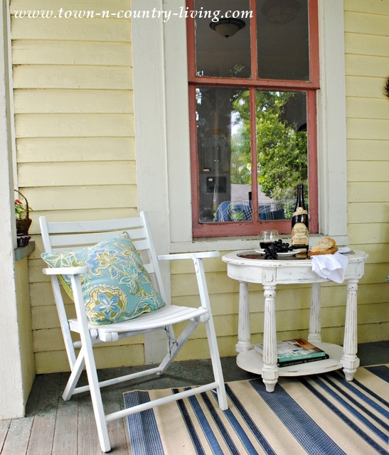 White Porch Furniture and Comfy Cushions