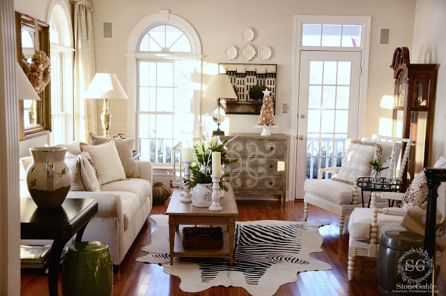 Traditional elegance displayed in a bright and airy living room