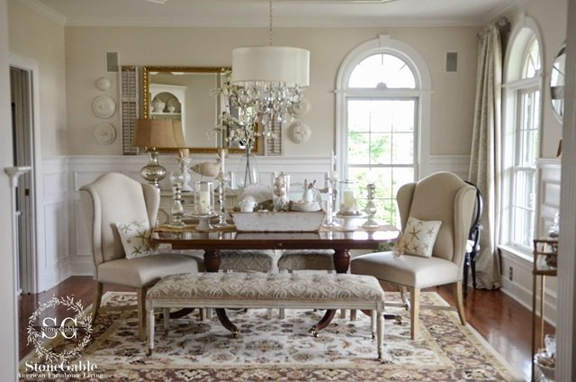 beautiful country living rooms charming traditional elegance stonegable home tour 16809