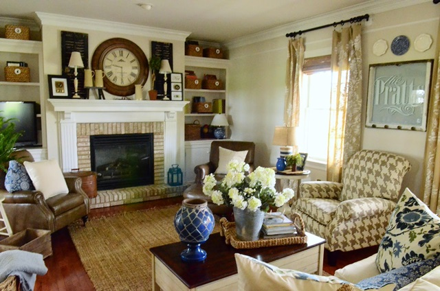 Traditional and charming family room