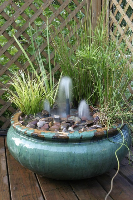 Container Water Garden with Fountains