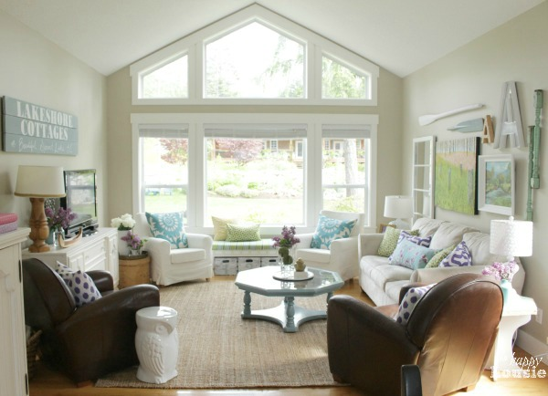 Coastal and Cottage Style Living Room