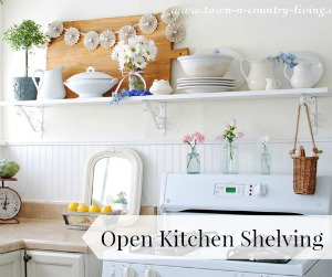 DIY Open Kitchen Shelving