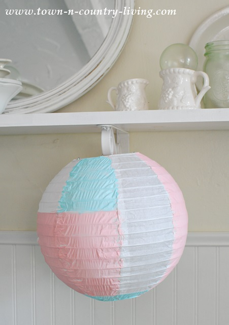 Paper Lantern embellished with acrylic paint