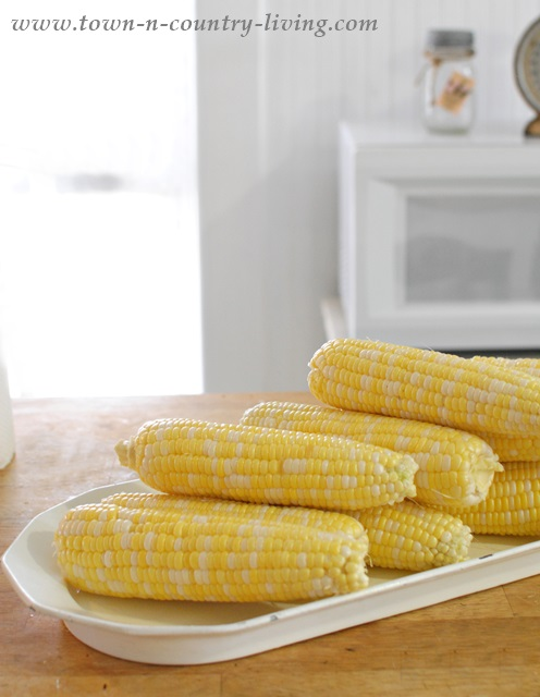 Shucked Sweet Corn for Freezing