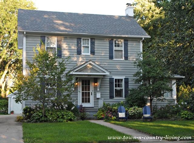 Blue Shuttered Historic Home in Geneva Illinois