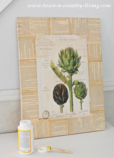 DIY Botanic Print Art Project
