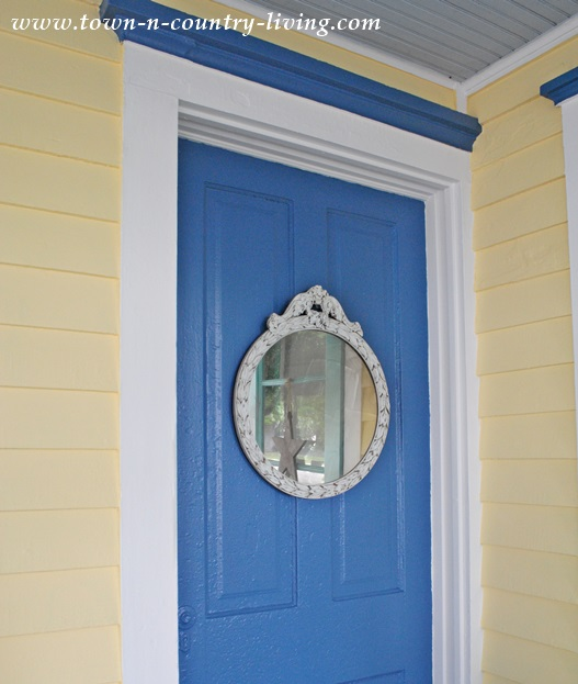 Door Painted in Down Pour by Sherwin Williams