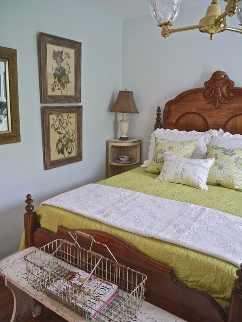 Antique Bed in Guest Room