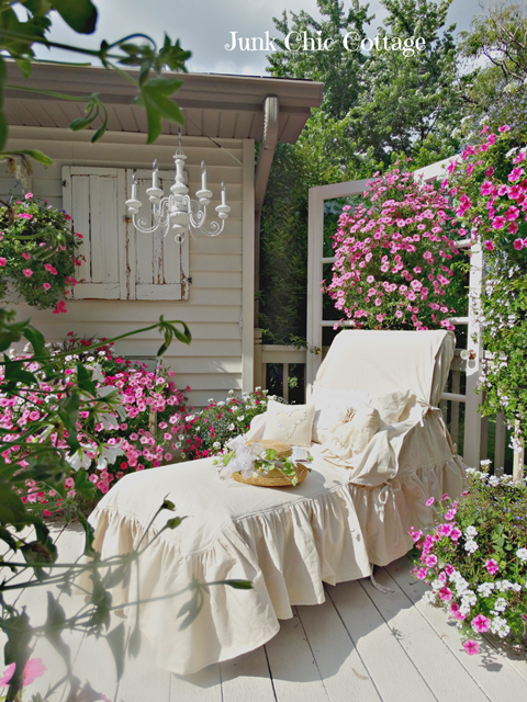 Chaise Lounge in Backyard Garden