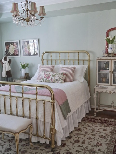 Iron Bed in Master Bedroom