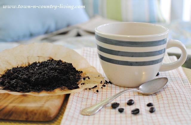 Using Coffee Grounds - Fertilize the Garden
