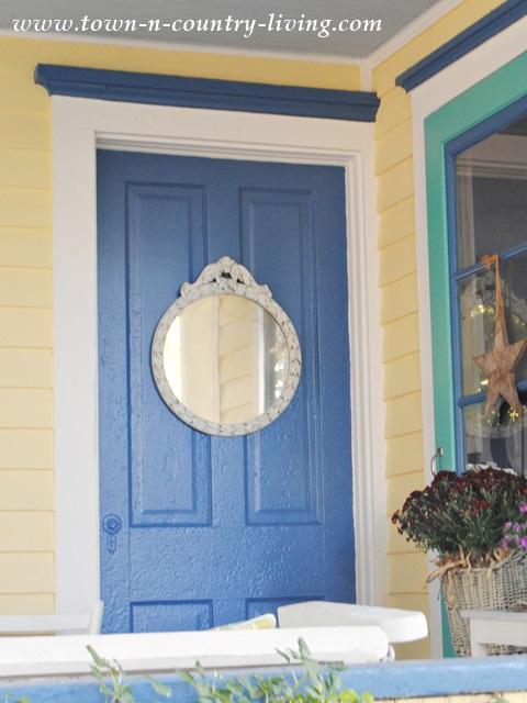 Farmhouse Door with Vintage Mirror