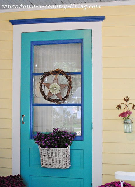 Front Door Painted in Rivulet by Shermin Williams