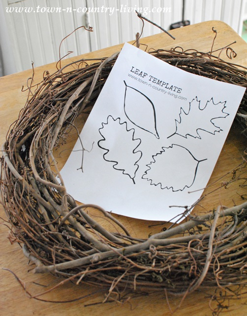 Grapevine Wreath for DIY Fall Project