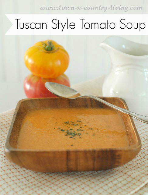 Homemade Tuscan Style Tomato Soup