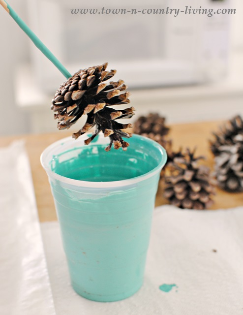 How to paint pine cones town country living for How to paint pine cones for christmas