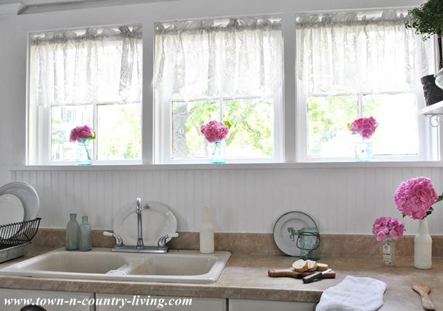 Trio of Victorian Farmhouse Kitchen Windows