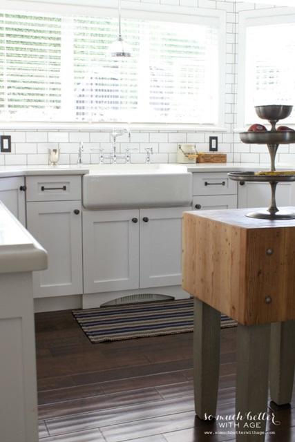 Vintage Style White Kitchen