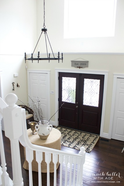 Bright and Elegant Foyer at So Much Better with Age