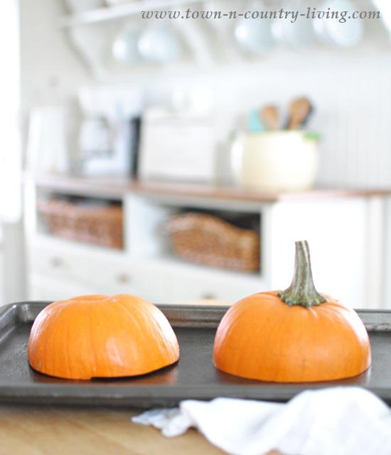 Baking a Sugar Pumpkin for Pie