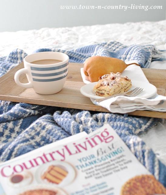 Breakfast in a Farmhouse Bedroom