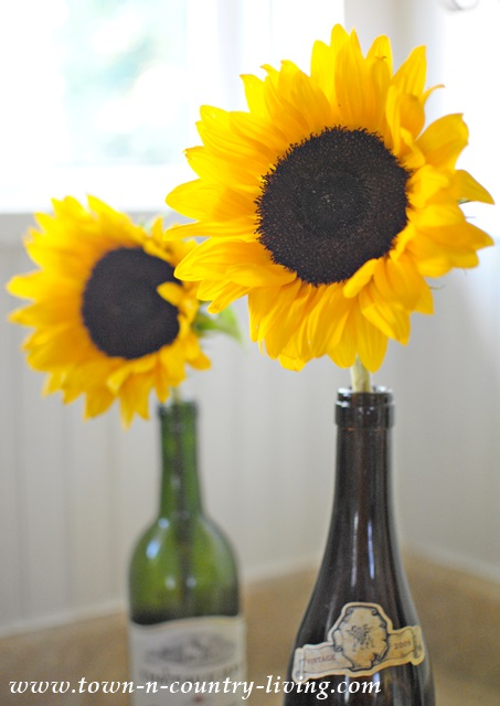 Simple Sunflower Arrangement Town Amp Country Living