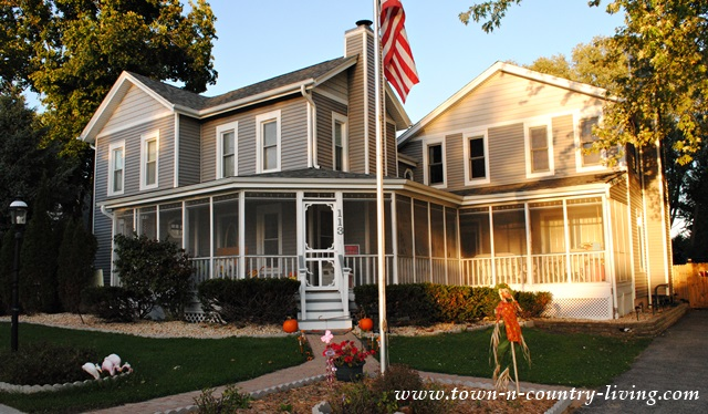 Gray Historic Home with Wraparound Porch