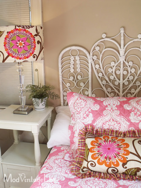 Guest room with boho chic vibe