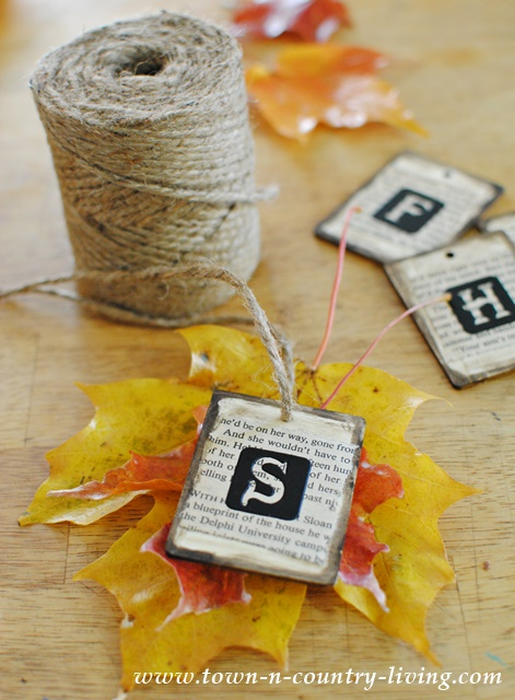 How to make leaf place cards