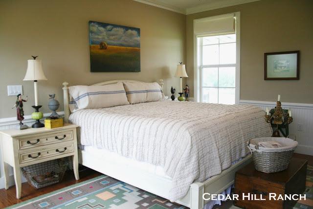 Master Bedroom at Cedar Hill Farmhouse