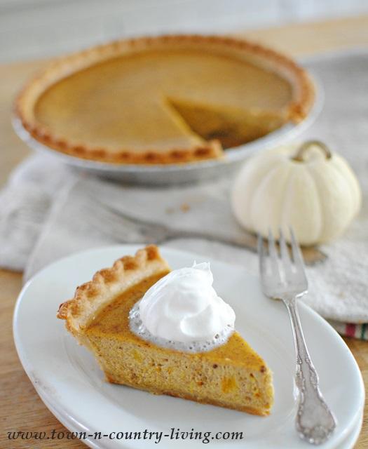 Pumpkin Pie Made from Scratch