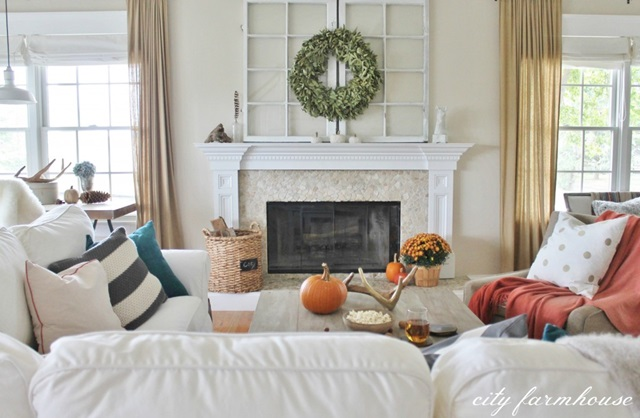 Modern Country Style Fall Living Room