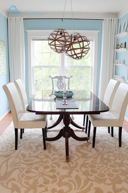 Traditional Blue and White Dining Room
