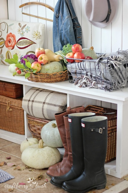 Mud Room Dressed for Fall