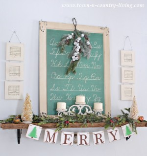 DIY Christmas Decor - Decorating a Mantel