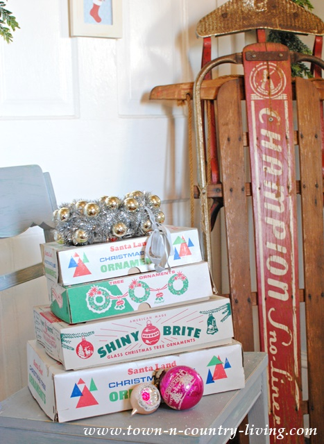 Collection of Vintage Christmas Ornaments from Shiny Brite and Santaland