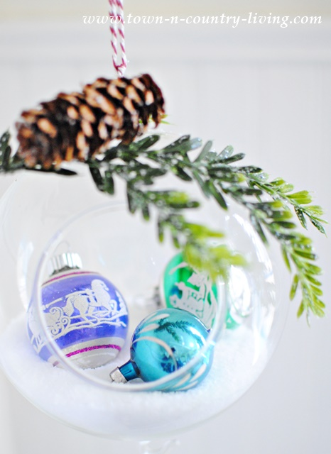 DIY Hanging Snow Globe for Easy Christmas Ornaments