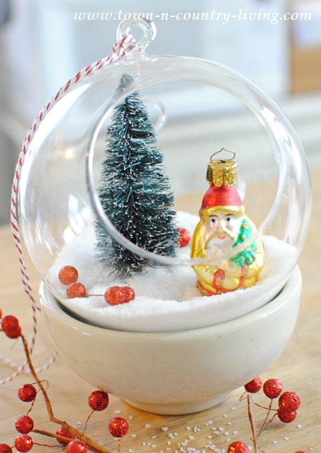 How to create hanging snow globes for Christmas