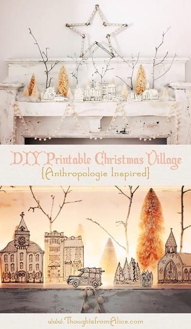 DIY Printable Christmas Village