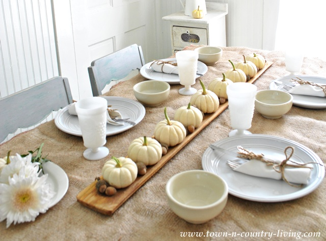 DIY Home Decor - Fall Table Settings