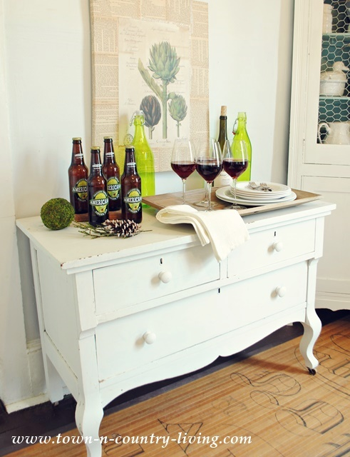 Flea Market Dresser turned Farmhouse Dining Buffet
