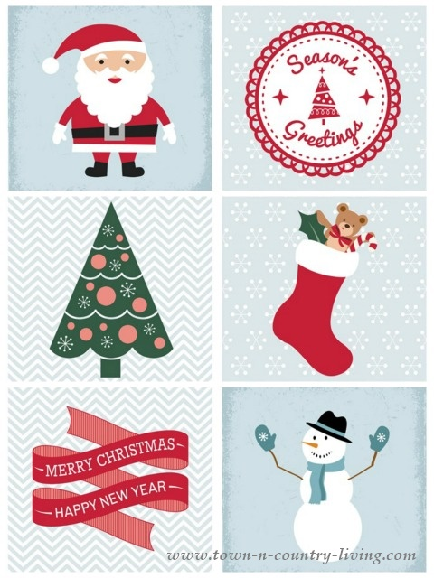 Free Christmas Printable. Download at www.town-n-country-living.com/christmas-mantel-free-printable.html