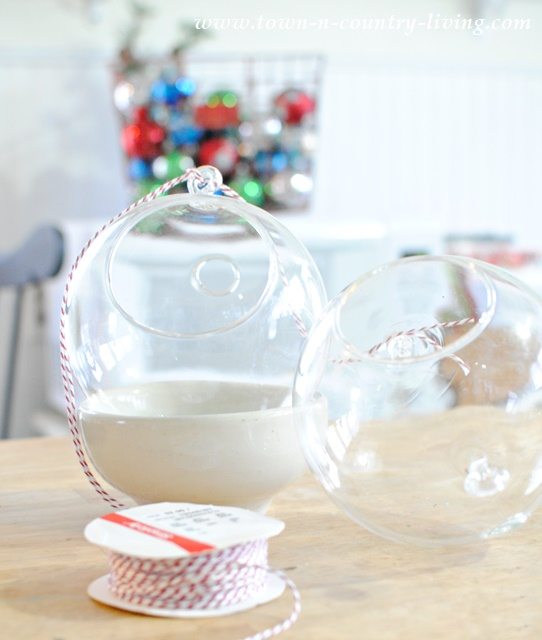 How to make hanging snow globes from glass terrariums