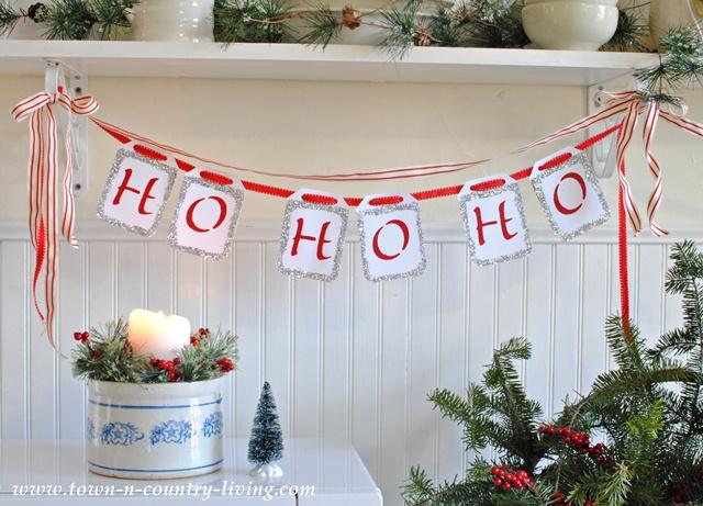 Ho Ho Ho DIY Christmas Banner