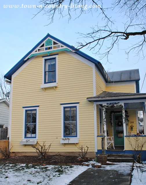 Yellow Clapboard Farm House