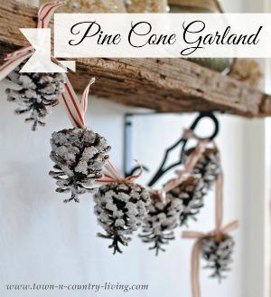 DIY Pine Cone Garland