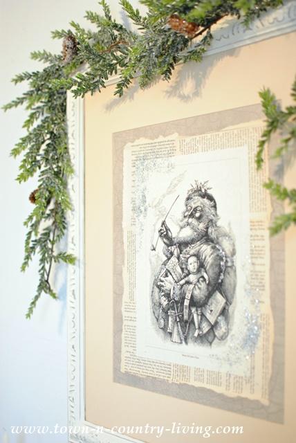 DIY Santa Picture - DIY Holiday Artwork